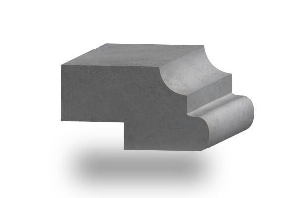 worktop edge bullnose ogee 60mm