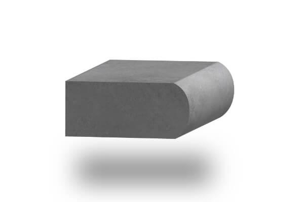 worktop edge full bullnose 30mm